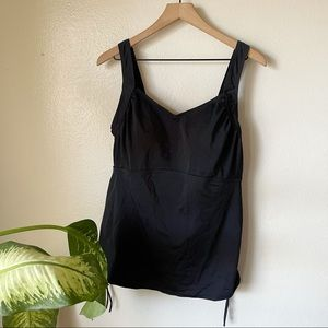 Swimsuits For All   Side Cinch Tankini Top